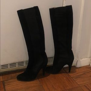 Vero Cuoio Tall Suede Pull Up Boots